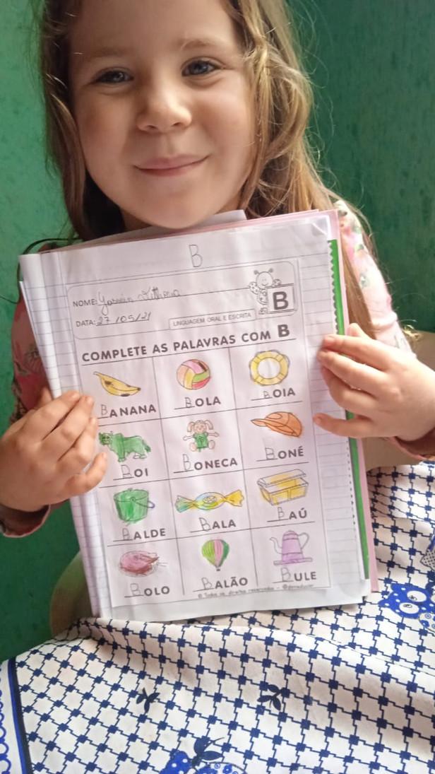 Cmai Santa Rita, Maternal ll-C - Profª Edinalva