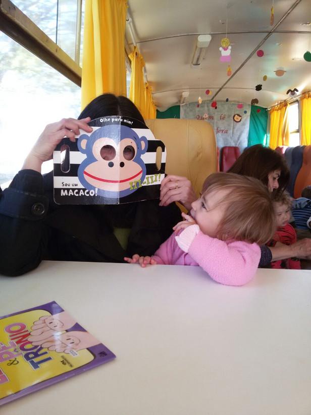 Visita do Comboio do Saber no CMEI Mônica