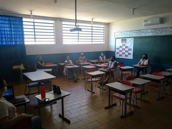 Professores em curso Agrinho 2021. Escola Municipal Professora Elizabete