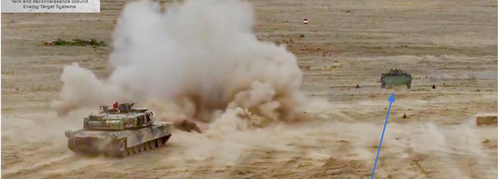 Abrams tank firing