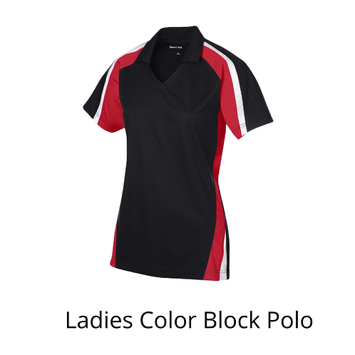 LADIES COLOR BLOCK POLO