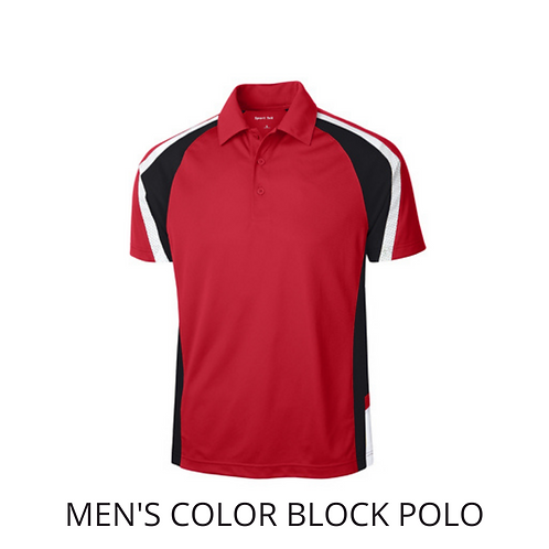 Red Color Block Polo