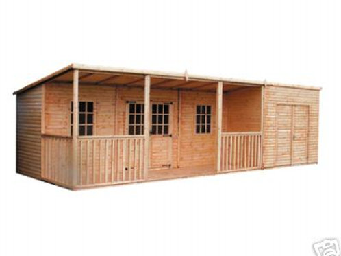 Summerhouse Saloon and Shed Combo - All Sizes