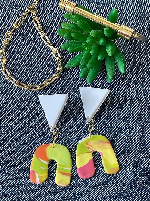 Tutti-frutti earrings