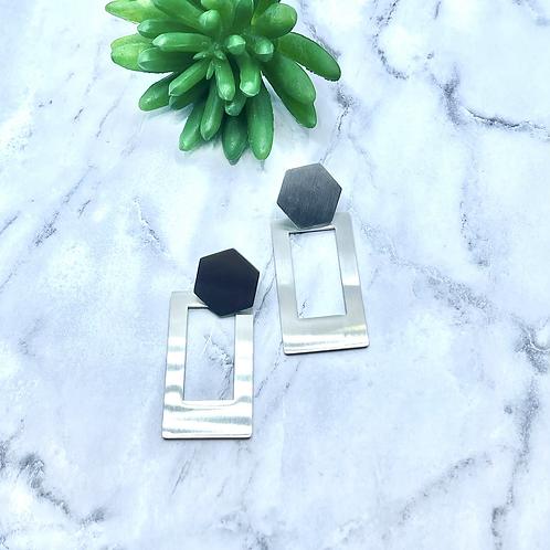 Sofia steel earrings