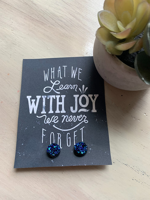 Earrings with Card