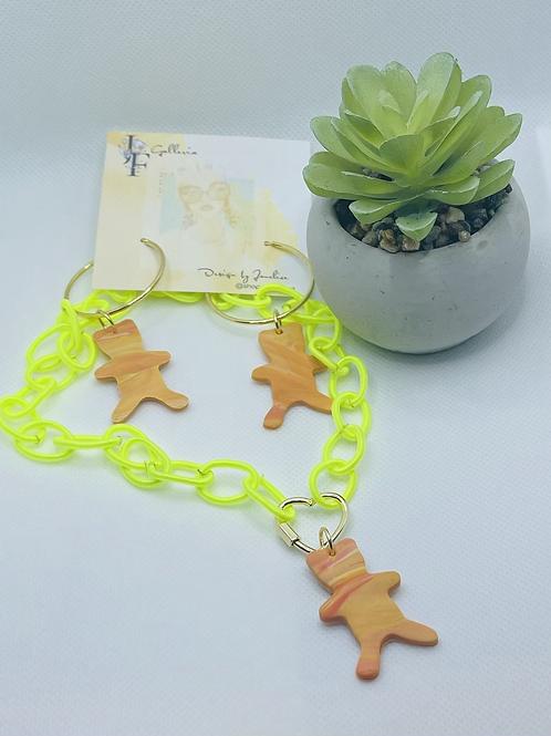 Happy sour patch necklace