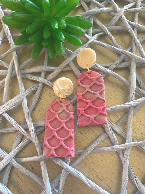 Mermaid Hot Pink earrings