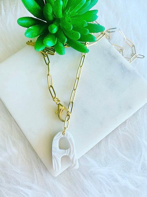 Pearl Monogram necklace