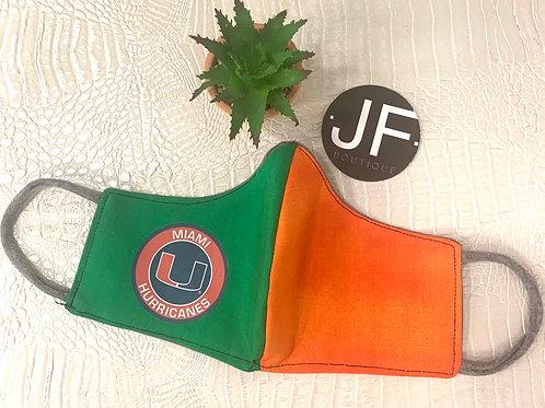 University of Miami mask