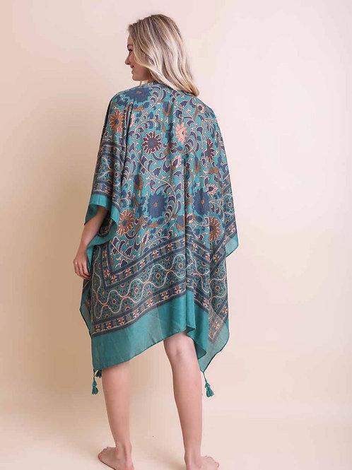 Blue morroco kimono