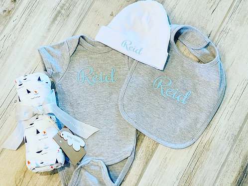 3 piece personalize baby set