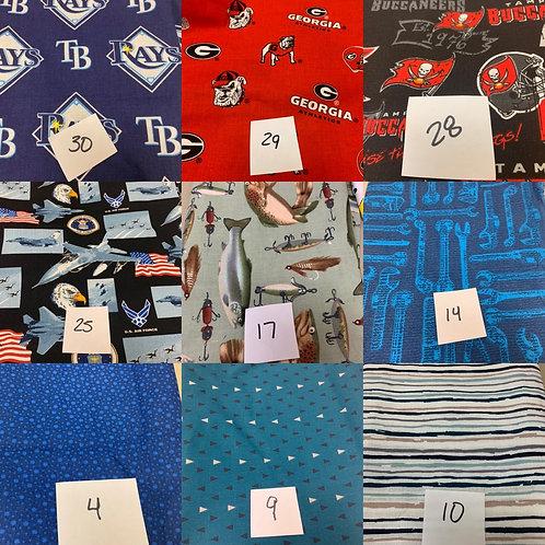 Teams and men's fabrics
