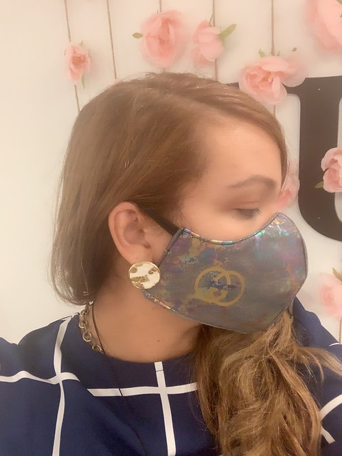 Fashion with logo mask