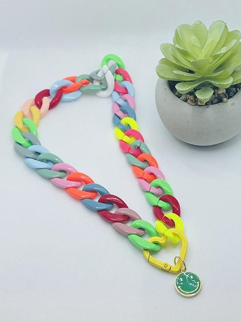 Happy rainbow necklace