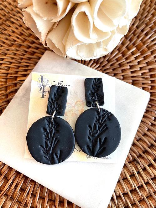 Classy black earrings