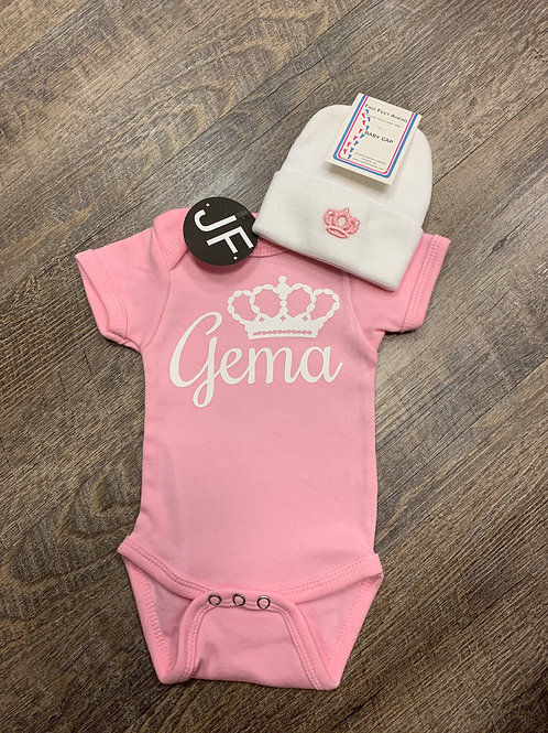 Crown Personalized Onesie