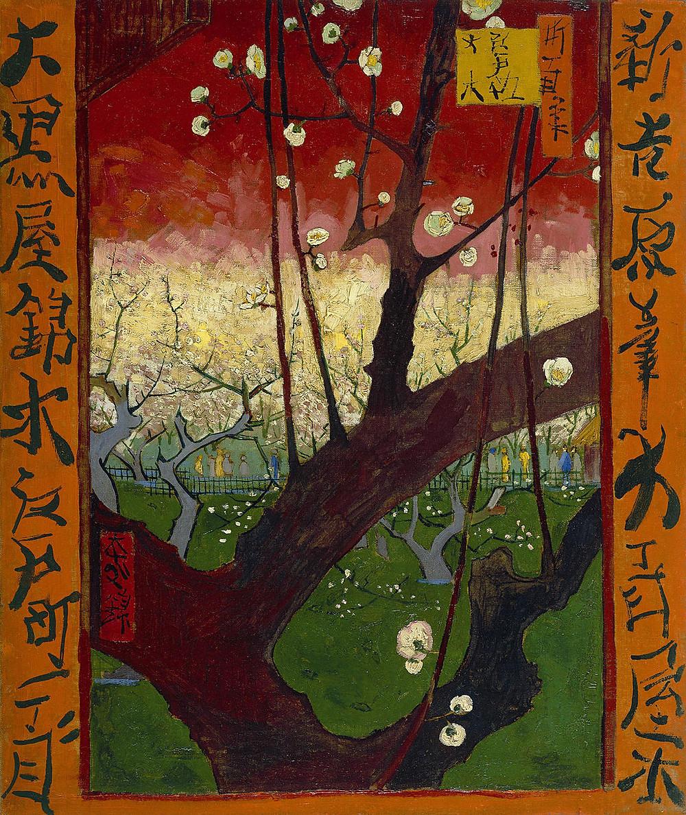 Vincent Van Gogh Flowering Plum Tree, 1887