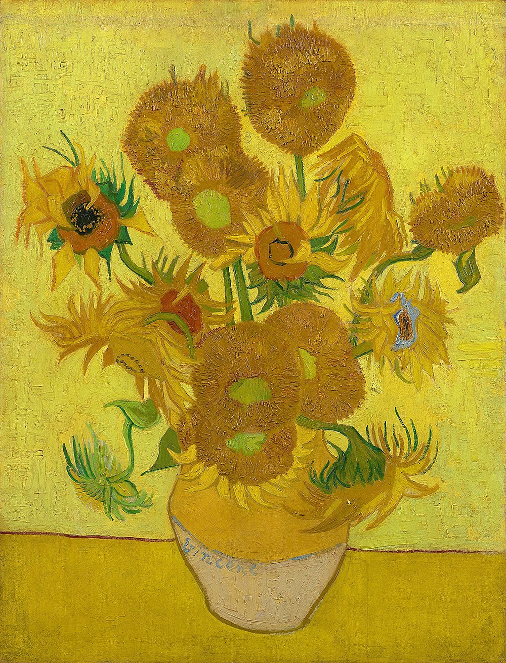 Vincent Van Gogh Sunflowers, 1888