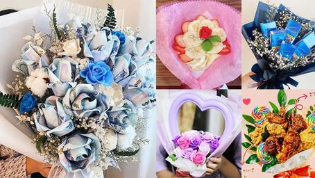 情人節送花送這束最特別!鈔票花、香菸花、炸雞花,盤點5款超有創意花束,你最想收到哪一束?