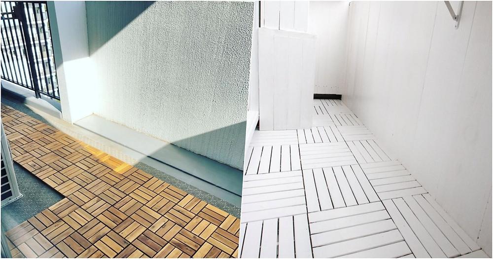 選擇不同地板排版