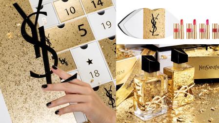 最奢華耀眼的禮物盒!YSL最華麗的2021限量流金聖誕系列,倒數日曆超豪華、自由不羈淡香精流金瓶身閃著魔幻金光!