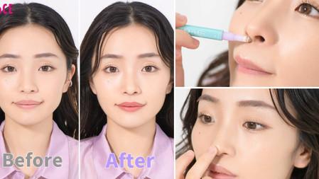 日本20萬訂閱Youtuber的整形級彩妝術:陰影、打亮位置畫對了就能縮短人中、消除蒜頭鼻!