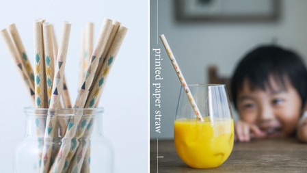 印上喜歡的文字與圖案!做出自己專屬的時髦紙吸管,環保又可愛,日本小小孩都超愛~♥