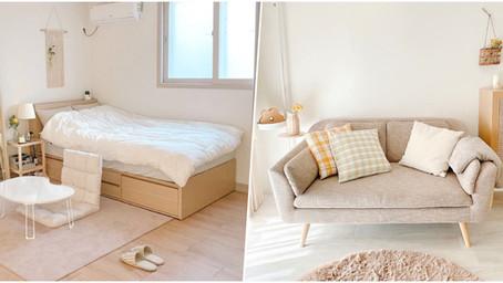 如何打造出韓系房間?7個「淡奶油色房間」佈置小技巧,從家具到收納怎麼看都舒心!