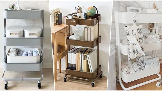 房間收納神物!7款大容量「三層置物推車」推薦!廚房、客廳都能放,讓雜亂永久消失!