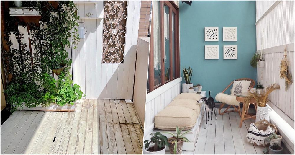 白漆木板增添園藝感