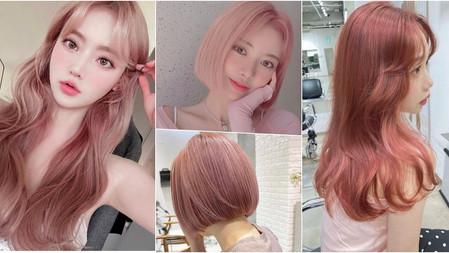 2021髮色日韓美人瘋染→『蜂蜜玫瑰奶茶色』絕美5款變化、染完仙氣混血度飆升,想減齡指名這髮色!