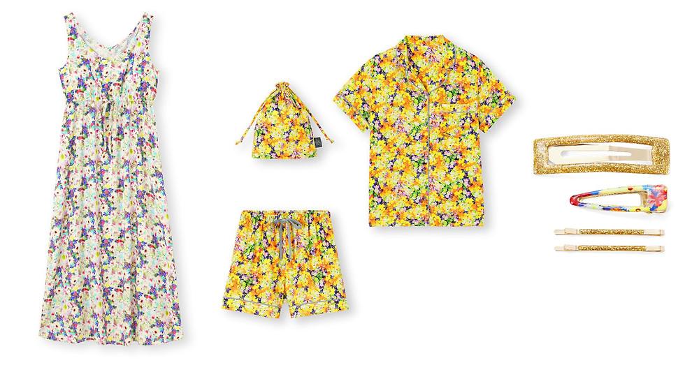 女裝附罩杯家居連身裙(無袖)FYOS/女裝家居服組(短袖短褲)FYOS/女裝髮夾組FYOS+X
