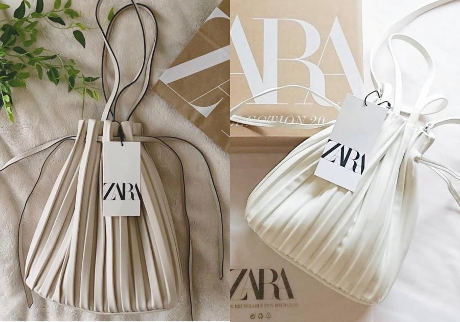 ZARA 百褶水桶包