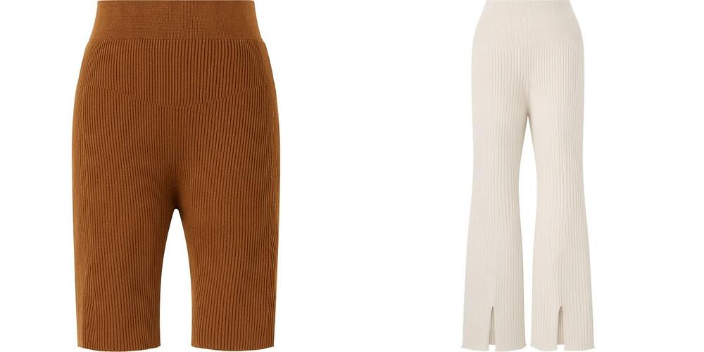 Uniqlo 聯名 Mame 3D織法羅紋褲
