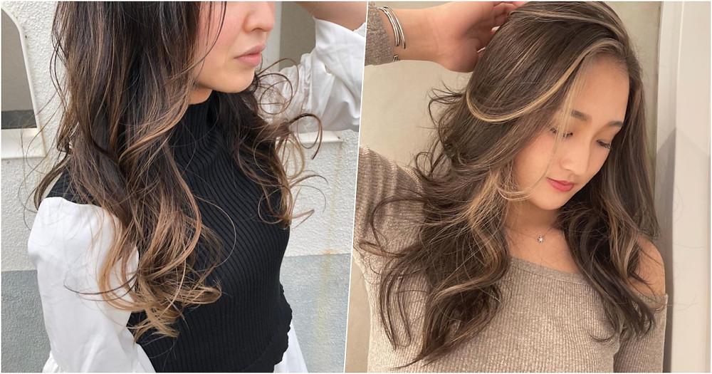 長髮 輪廓染