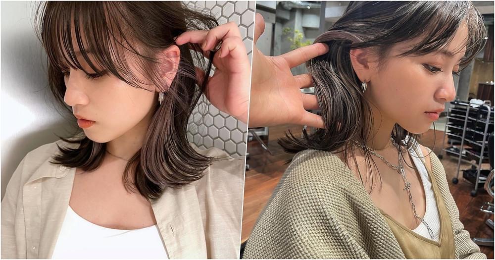 中長髮 輪廓染