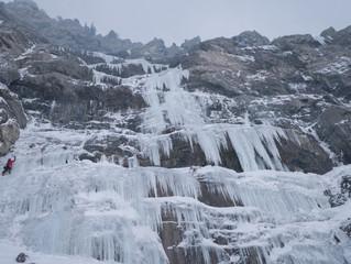 Brrr, ice climbing.