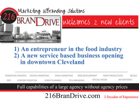 216BranDrive Welcomes 2 NEW Entrepreneurs as Clients