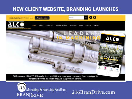 216BranDrive Launches New Branding, Website for Manufacturing Leader