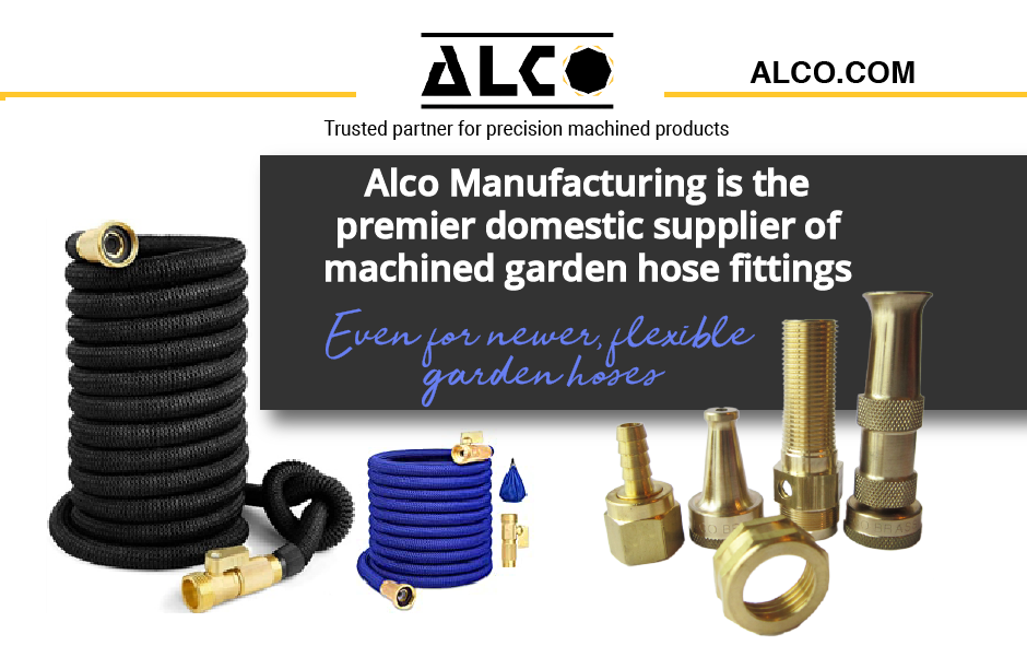 Alco Manufacturing is the premier domestic supplier of machined garden hose fittings
