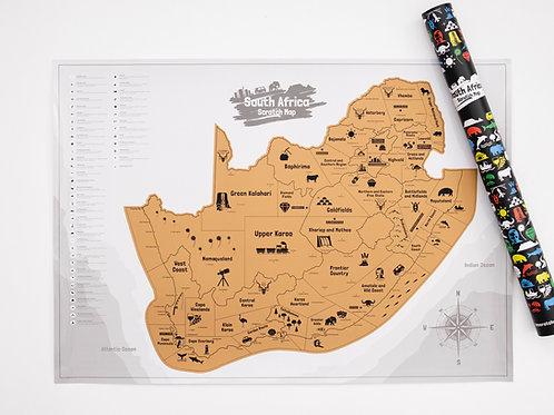 South Africa Scratch Map (Int)