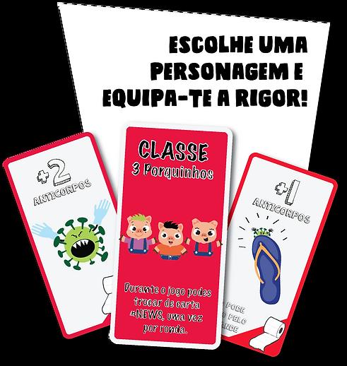 Cartas #WC - Equipamento e Classe dos 3 Porquinhos
