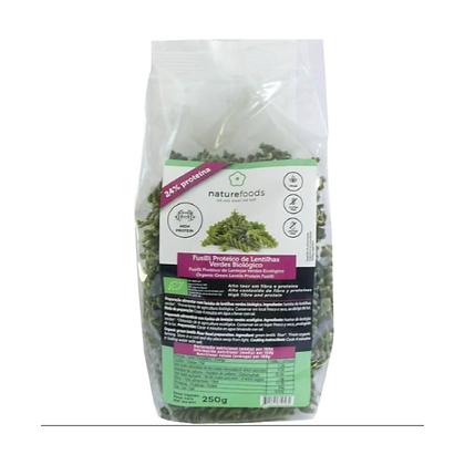 Fusilli Lentilhas Verdes BIO Naturefoods 250gr
