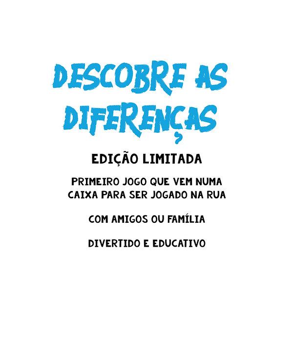 Descobre as Diferenças - Edição Limitada - Primeiro jogo que vem numa caixa para ser jogado na rua; com amigos ou família; divertido e educativo