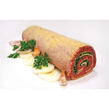 Rolo de carne picada mista com queijo e fiambre 1kg