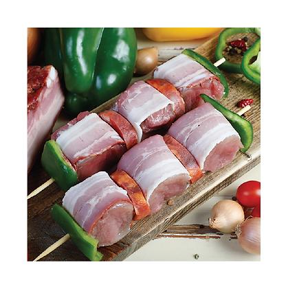 Espetadas de Porco com Pimento e Chouriço 1kg