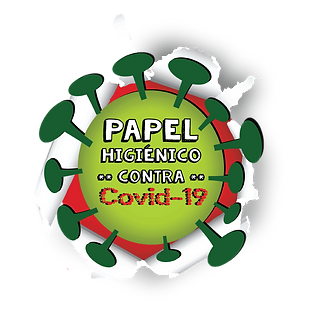 Papel Higiénico Contra Covid 19- Imagem do vírus