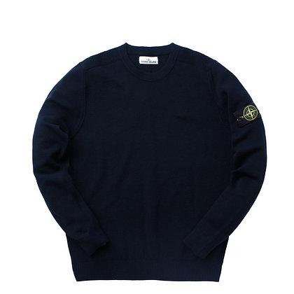 STONE ISLAND Cotton Crewneck Sweater - Navy