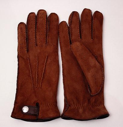BRUNELLO CUCINELLI Embroidered Suede Gloves